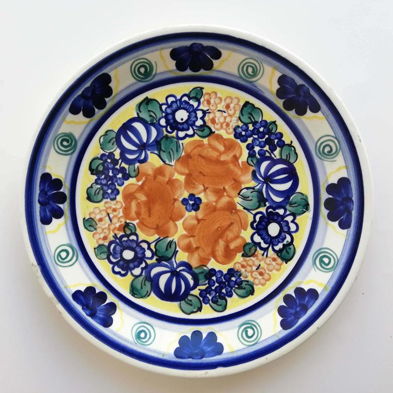 ヴウォツワヴェク陶器 平皿(直径24cm)#3554