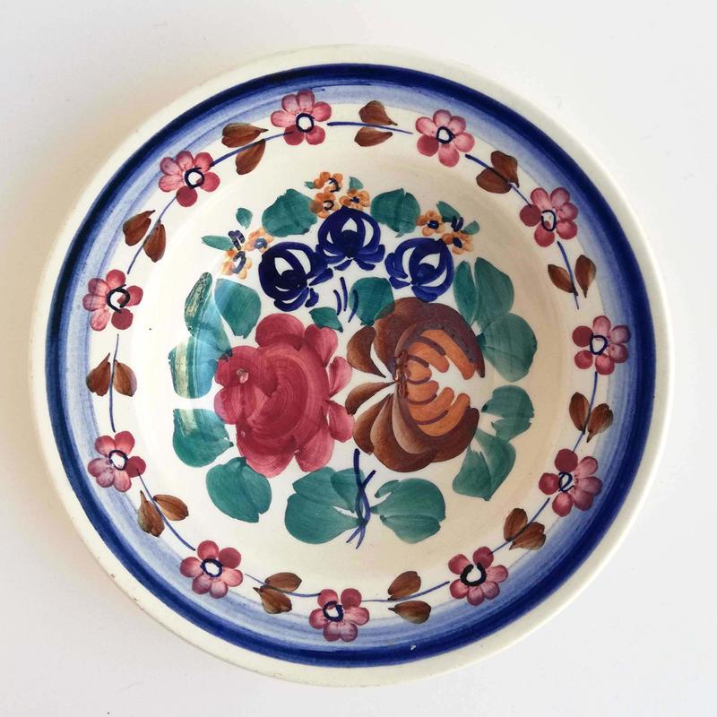 ヴウォツワヴェク陶器 中皿(直径17.5cm)#521