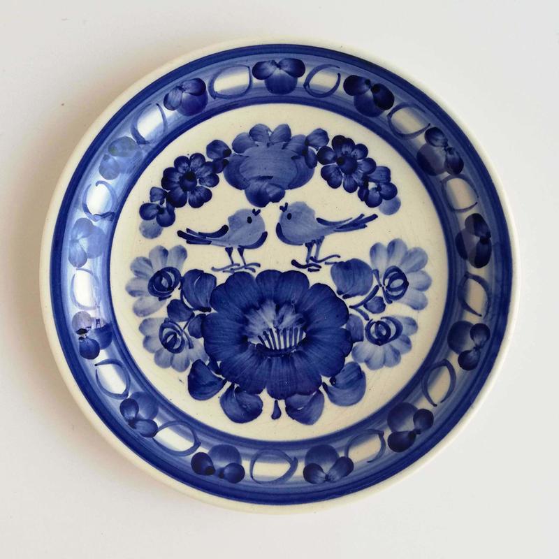 ヴウォツワヴェク陶器 平皿(直径19.5cm)#3543