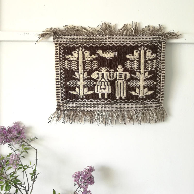 ヤノフ村の織物 タペストリー 恋人たち(47×31cm)#134