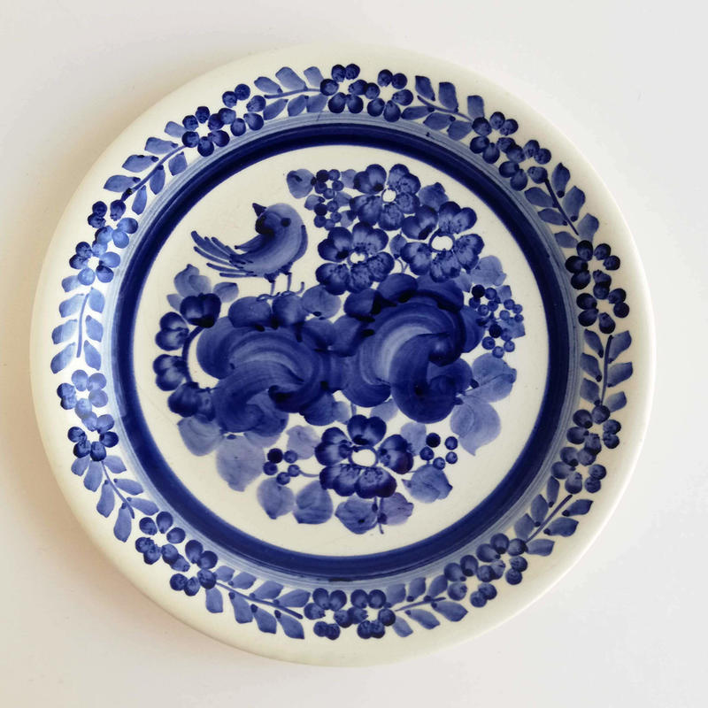 ヴウォツワヴェク陶器 平皿(直径24cm)#3266