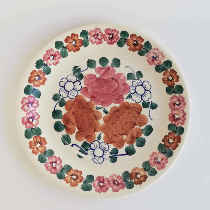 ヴウォツワヴェク陶器 平皿(直径24cm)#3558
