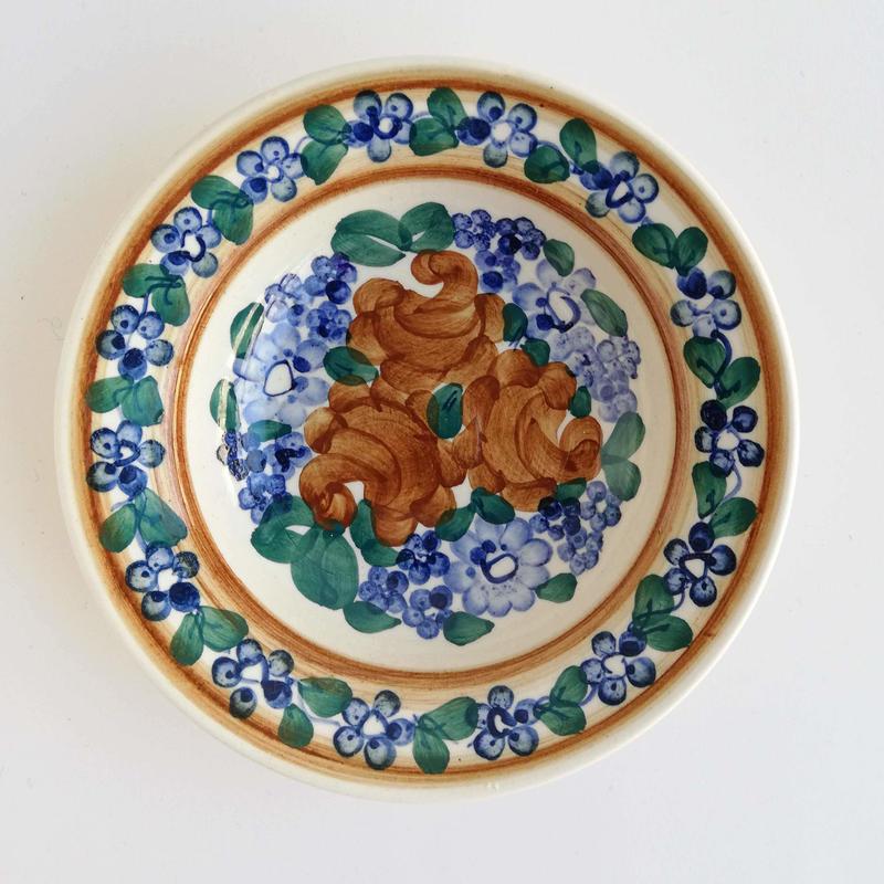 ヴウォツワヴェク陶器 小皿(直径15cm)#3518