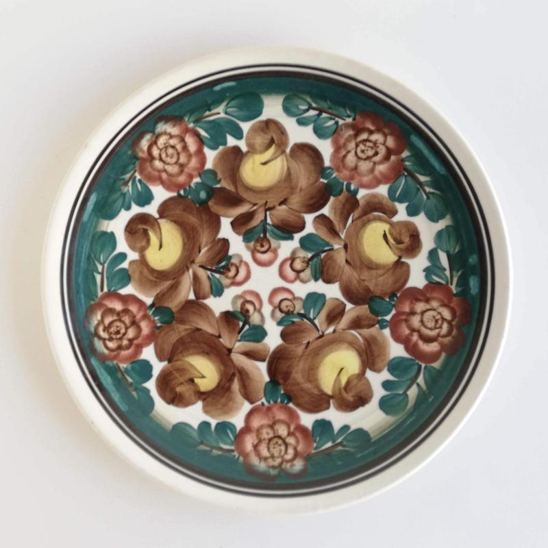 ヴウォツワヴェク陶器 平皿(直径24cm)#3556