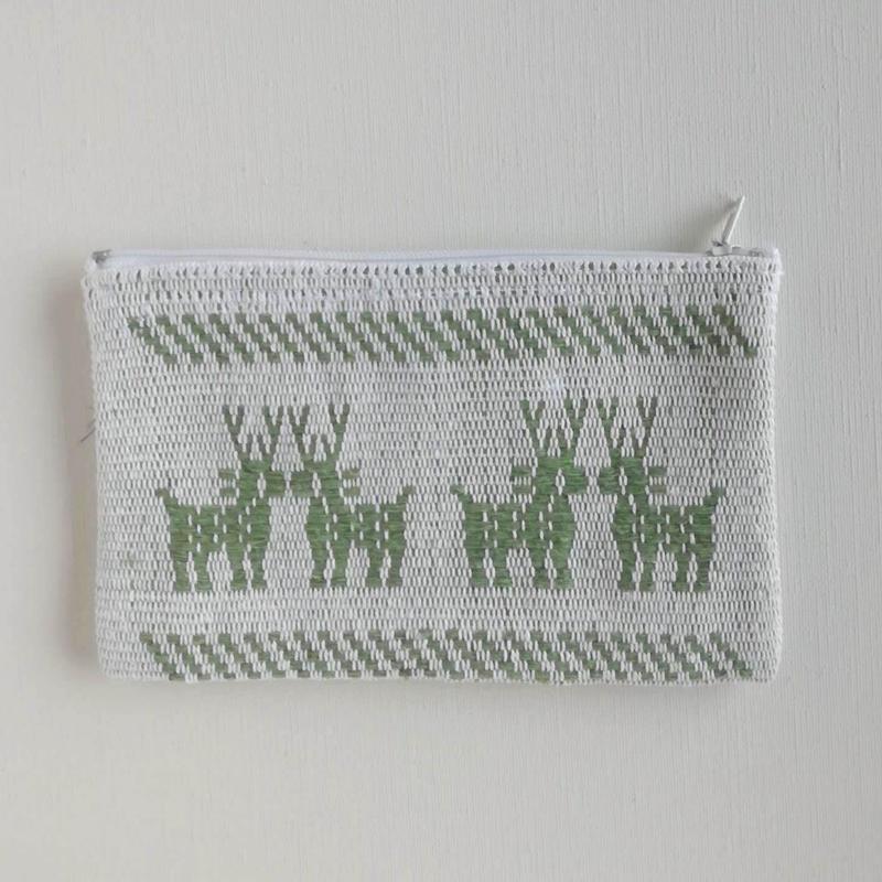 オアハカの手織り サン・マテオのポーチ(M) シカ、トリ