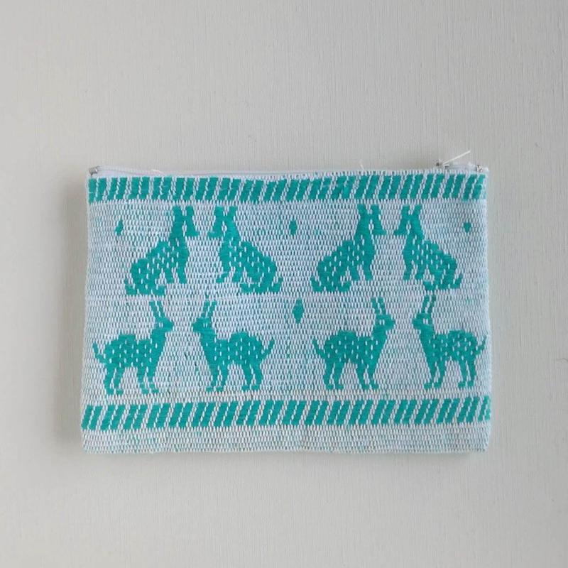 オアハカの手織り サン・マテオのポーチ(M) キツネ、ウサギ、リス