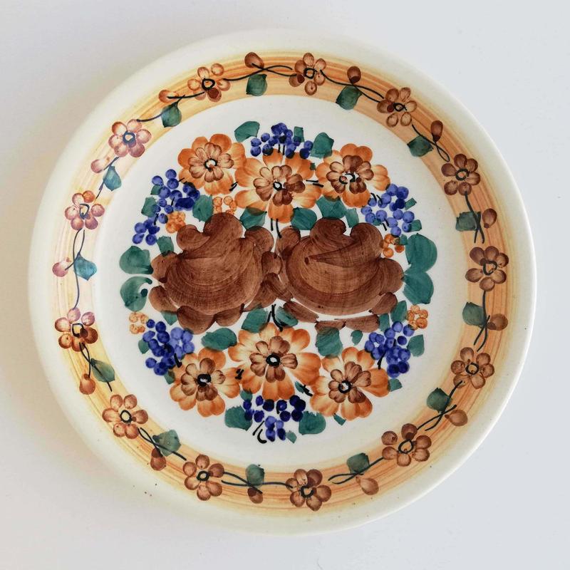 ヴウォツワヴェク陶器 平皿(直径19.5cm)#3233