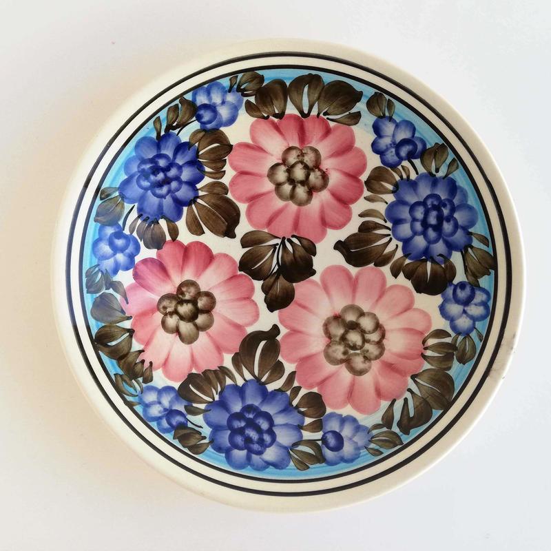 ヴウォツワヴェク陶器 深皿(直径22cm)#3551