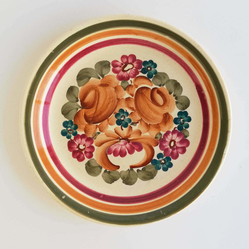 ヴウォツワヴェク陶器 平皿(直径19.5cm)#3230