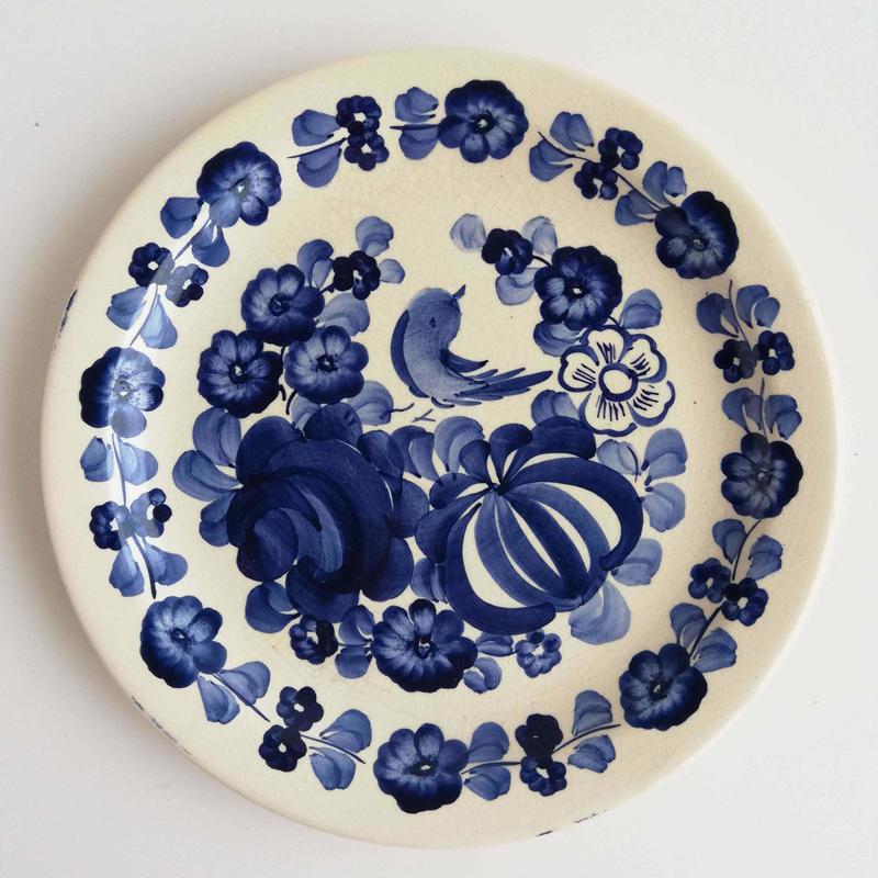 ヴウォツワヴェク陶器 平皿(直径20cm)#3242