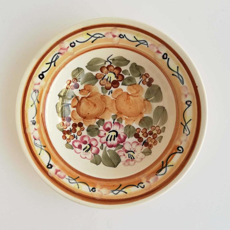 ヴウォツワヴェク陶器 中皿(直径17.5cm)#3526