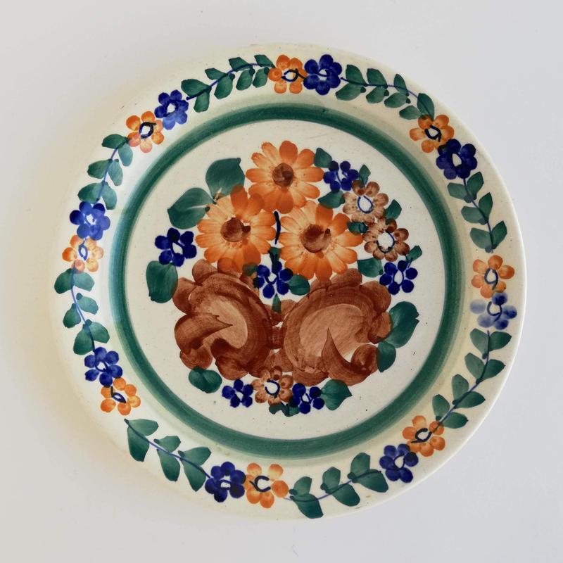 ヴウォツワヴェク陶器 平皿(直径19.5cm)#3401