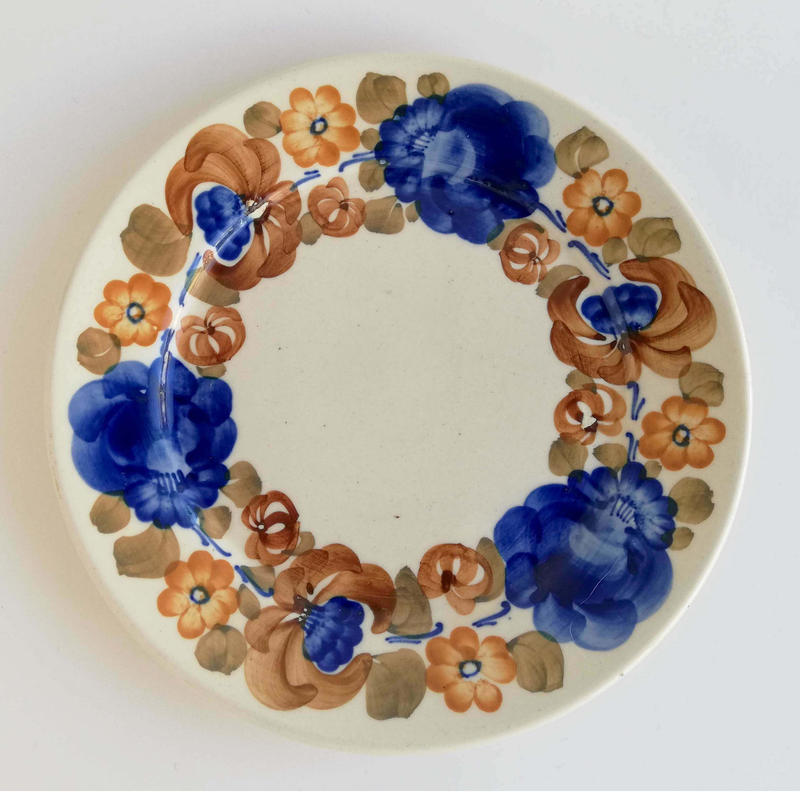 ヴウォツワヴェク陶器 平皿(直径19cm)#3388