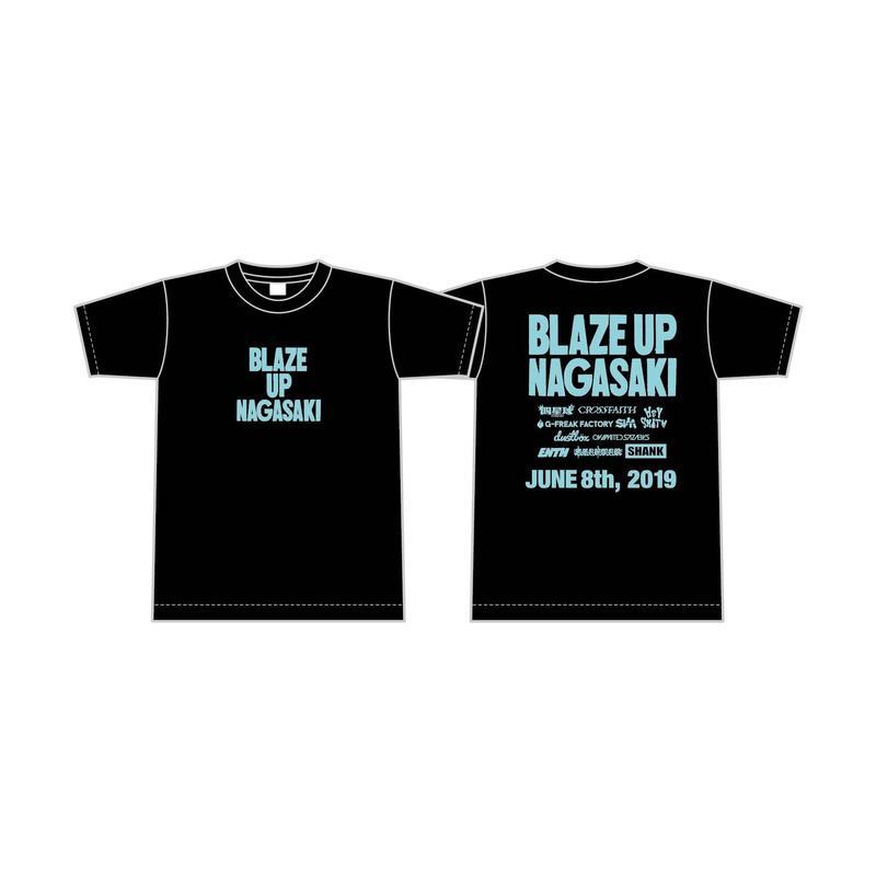 BLAZE UP NAGASAKI 2019 オフィシャルTシャツ A [カラー:ブラック]