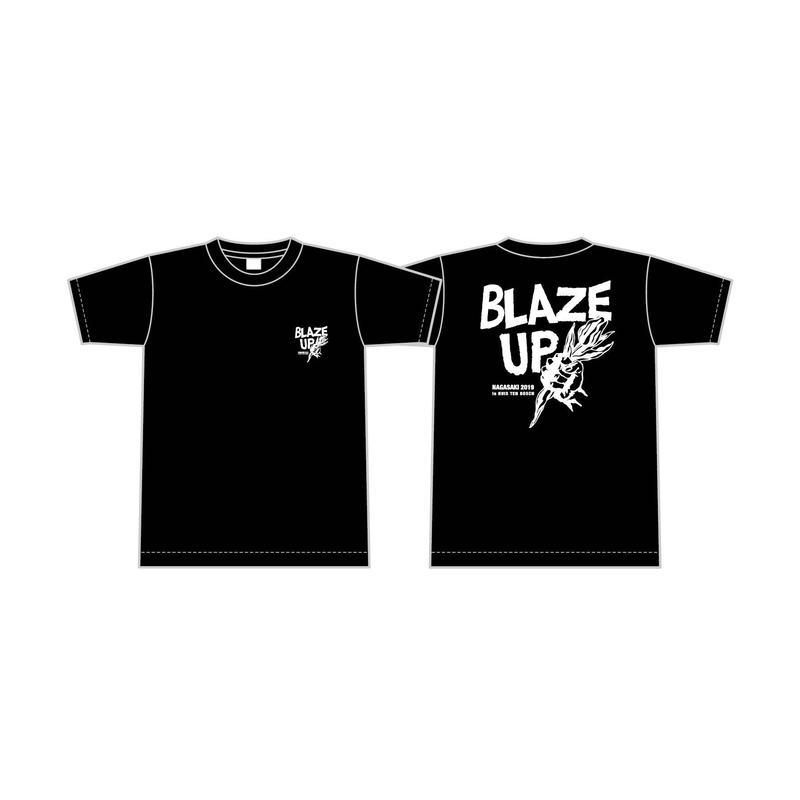 BLAZE UP NAGASAKI 2019 オフィシャルTシャツ B [カラー:ブラック]