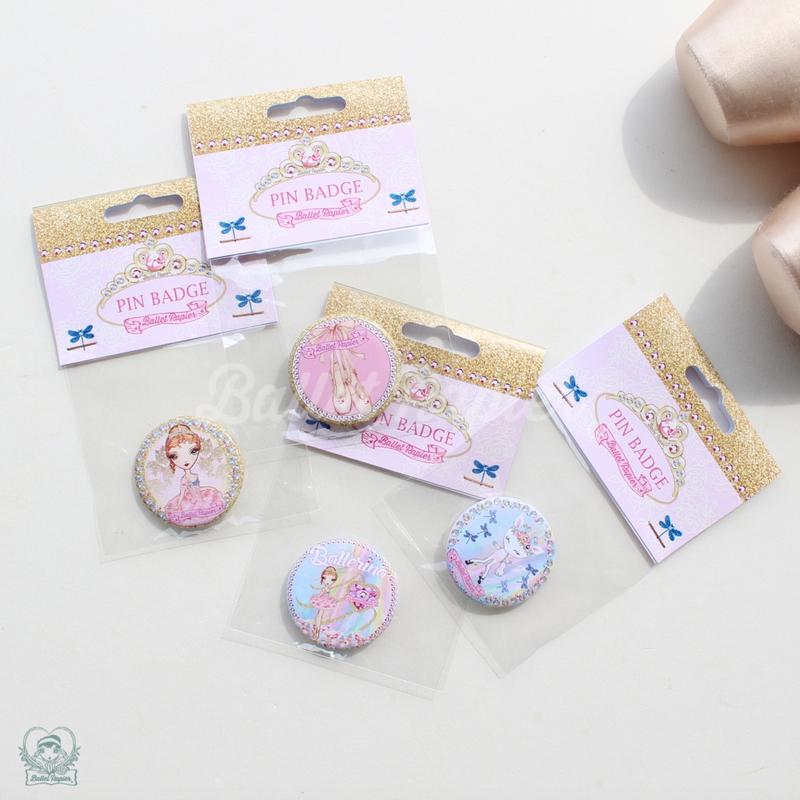 【再入荷】PIN BADGES 'BALLERINA'(本体価格:¥400)