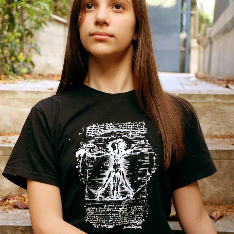 ユニセックスTシャツ・DA VINCI DANCE(本体価格:¥2800)