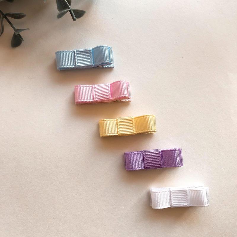 ベビーヘアクリップ*シンプル パステルカラー 全5色