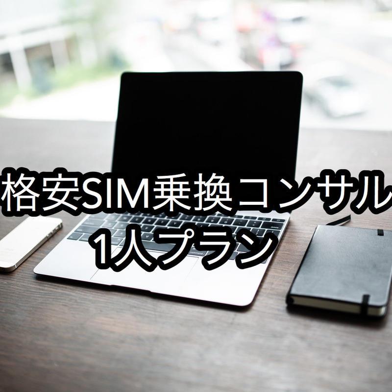 格安SIM乗換コンサル(1人プラン)