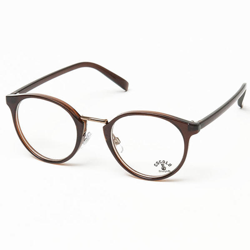 TOY SUNGLASS BOSTON(BROWN/CLEAR)