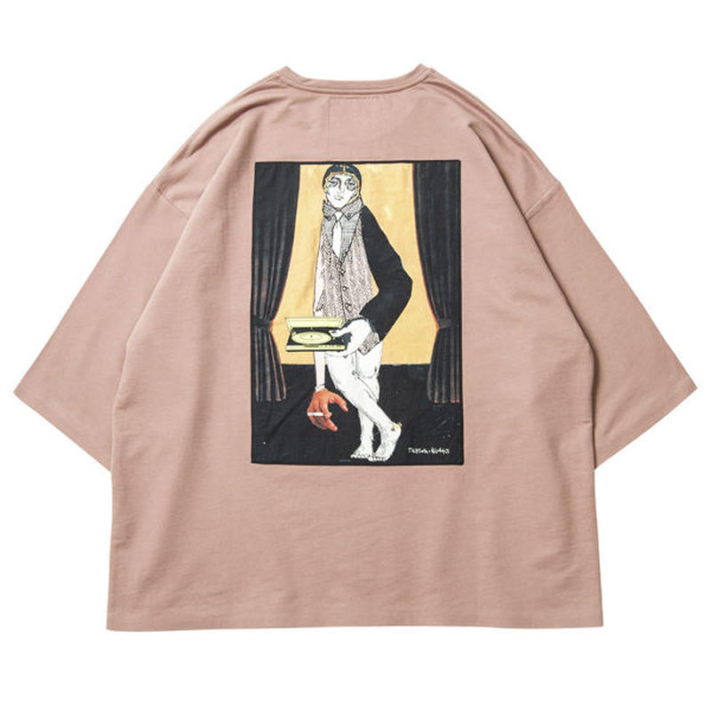 6月発売 / TIGHTBOOTH x OILWORKS - WAITER 7 SLEEVE T-SHIRT SALMON SHIRT