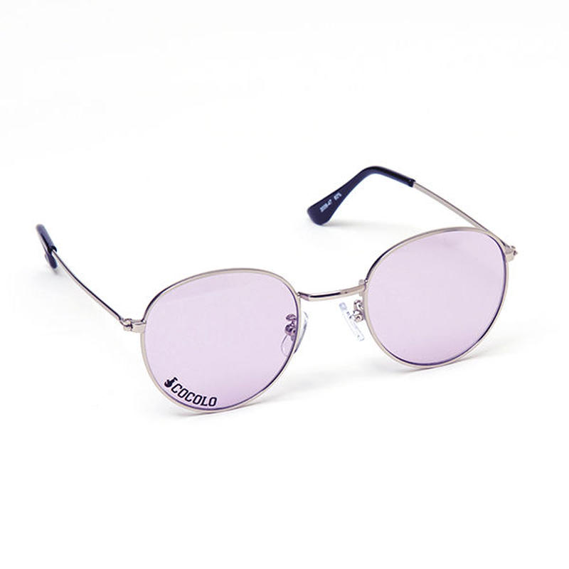 ROUND TOY SUNGLASS(SILVER/PURPLE LENS)