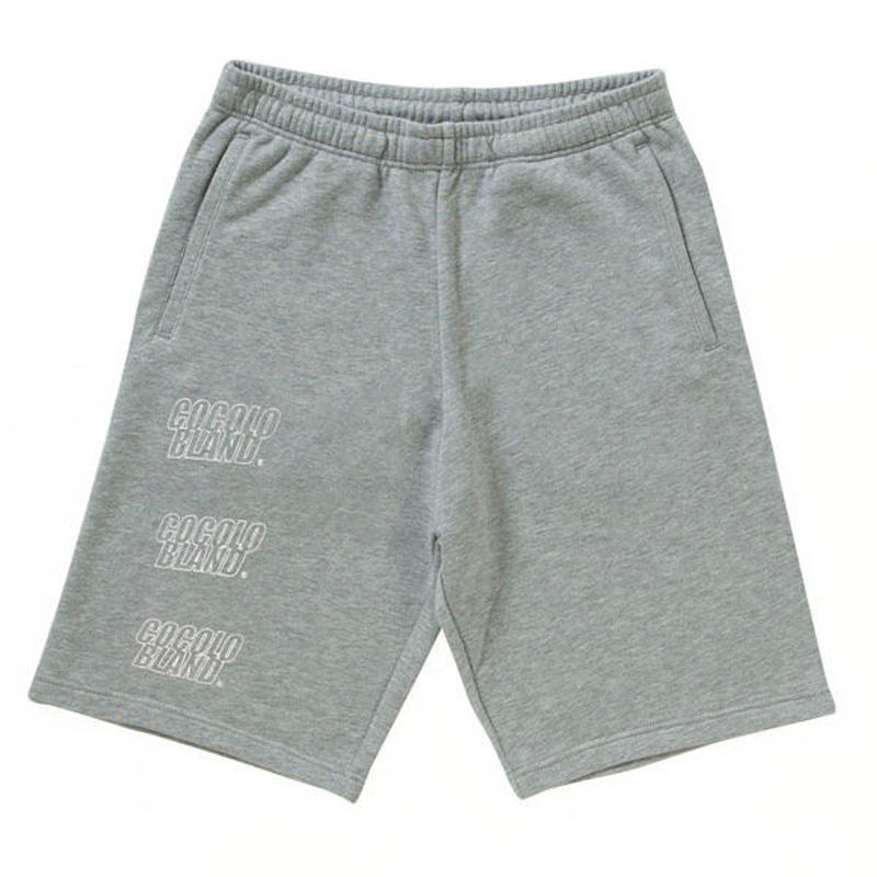 OUTLINE LOGO SWEAT SHORTS(GRAY)