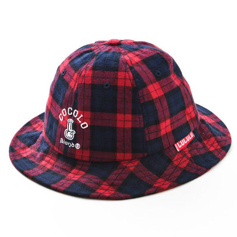 TARTAN CHECK METRO HAT (RED)