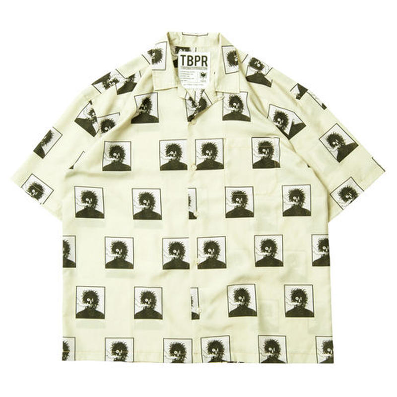 6月発売 / TIGHTBOOTH x OILWORKS - SMOKER ALOHA CREAM SHIRT