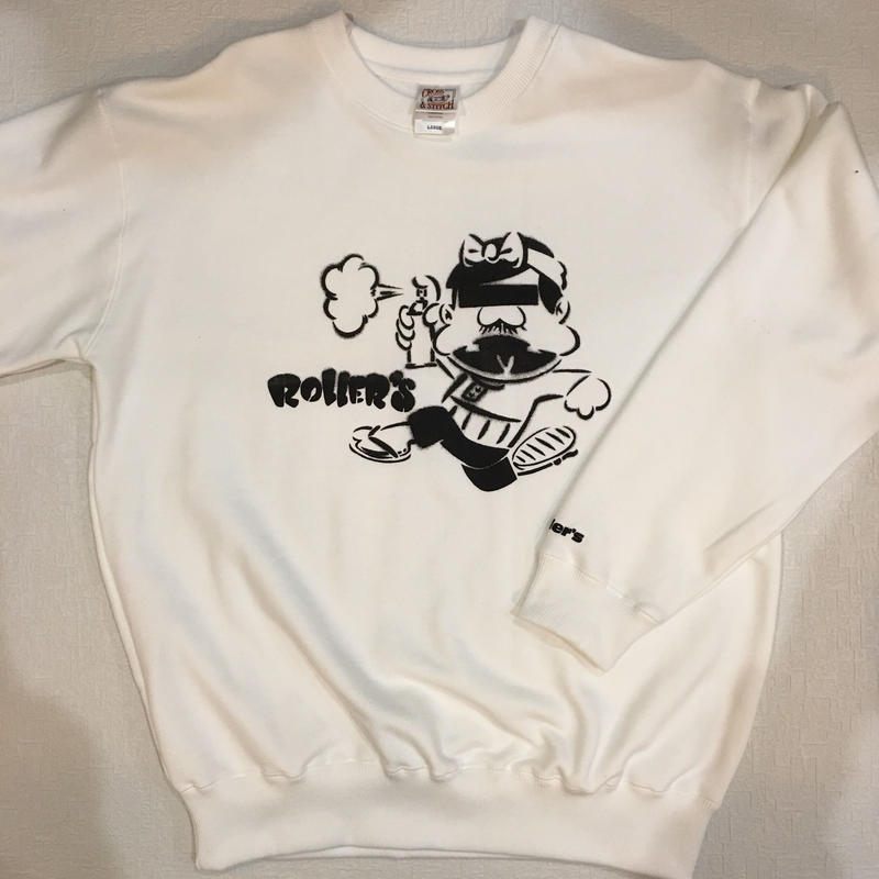 Rollers BA×××ON CREW NECK(white/yellow/gray)