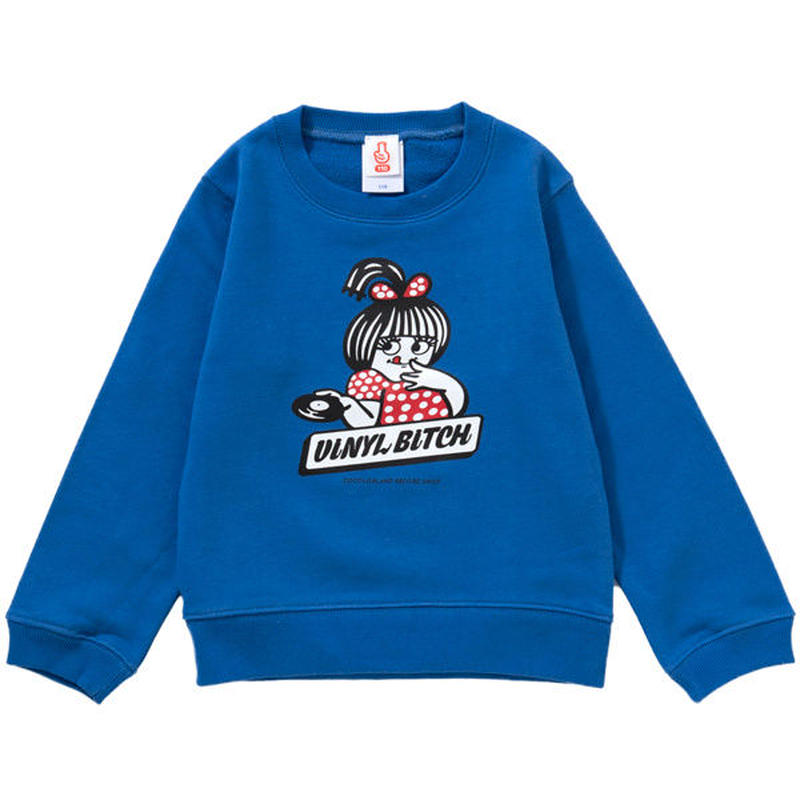 VINYL BITCH HOT WAX KIDS CREWNECK SWEAT (BLUE)