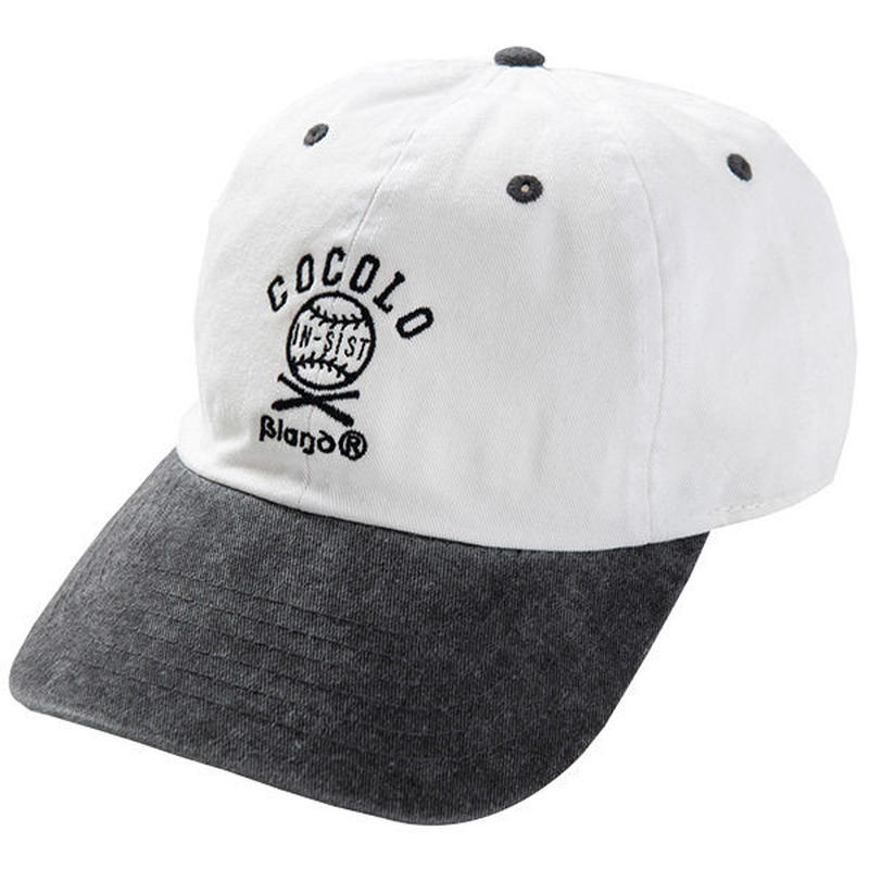 COCOLO BLAND × 韻シスト W-NAME CAP(WHITE/BLACK)