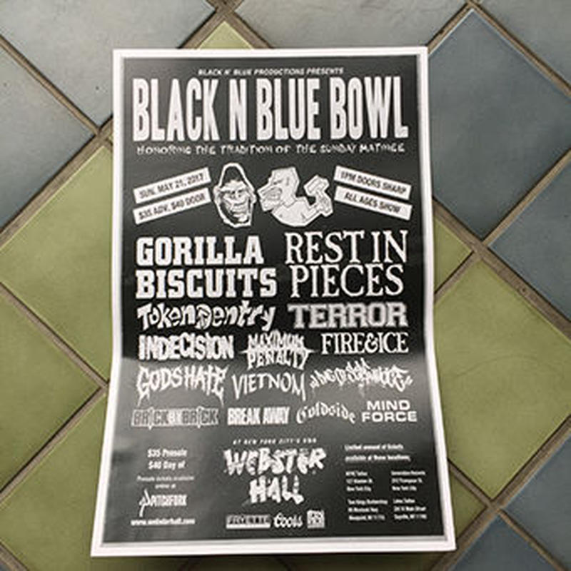 BLACK N BLUE BOWL POSTER -2017-