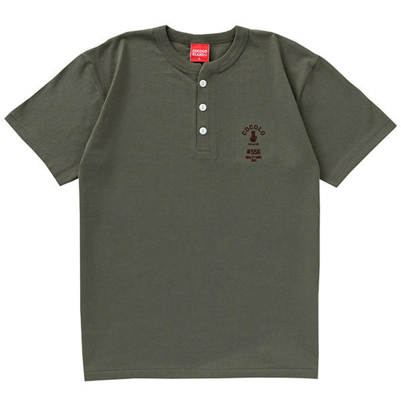 FLOCKY HENRYNECK S/S TEE (ARMY GREEN)
