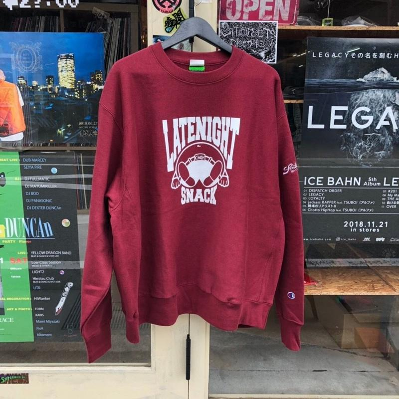 Late Night Snack!! : CREW NECK SWEAT [MAROON]