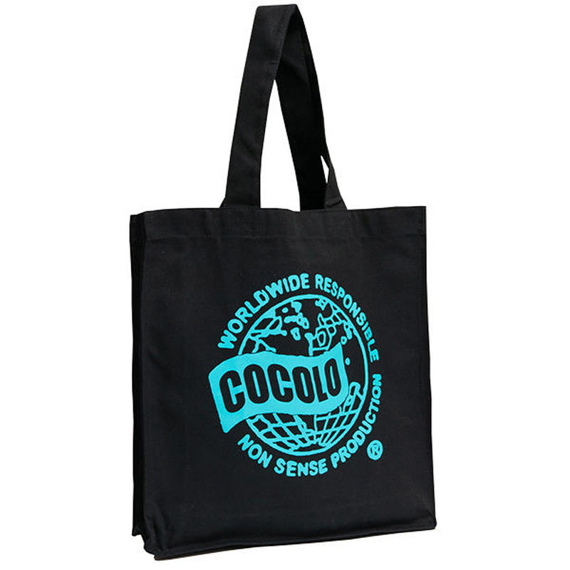 WORLD WIDE BIG TOTE BAG(BLACK)