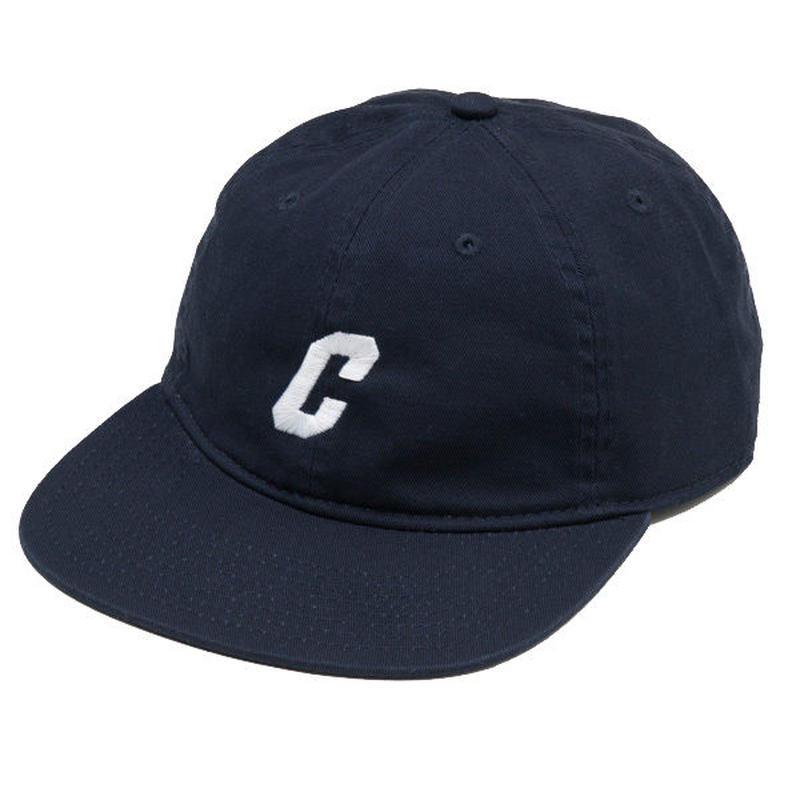 C LOGO FLAT VISOR CAP (NAVY)