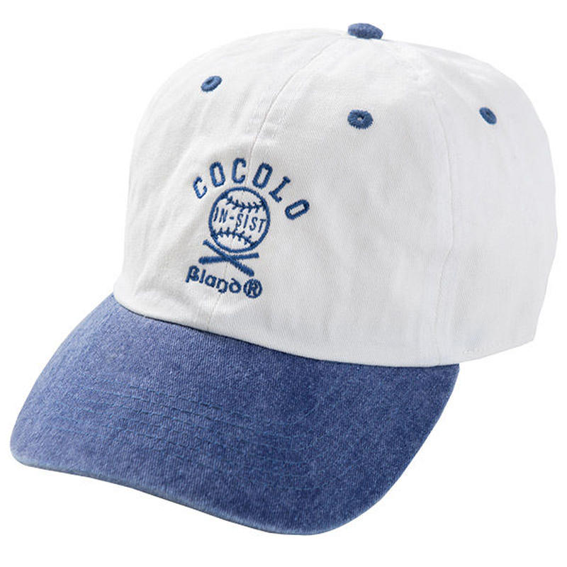COCOLO BLAND × 韻シスト W-NAME CAP(WHITE/BLUE)