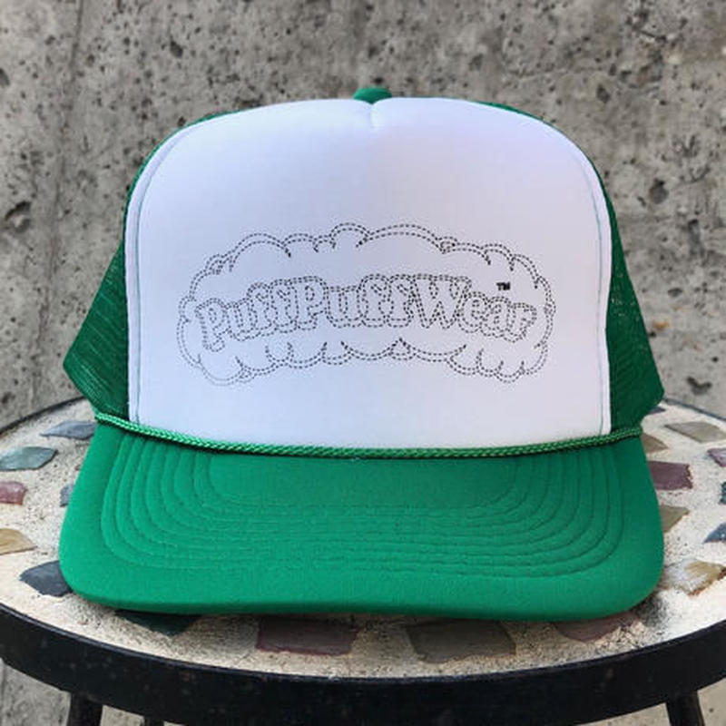 PuffPuff Stitch MESH CAP (GREEN/BLACK)