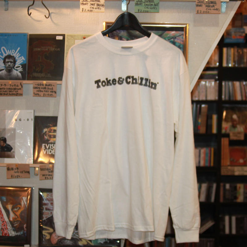 -PRILLMAL- MIDNIGHT TOKER !!! : L/S T-SHIRTS (white)