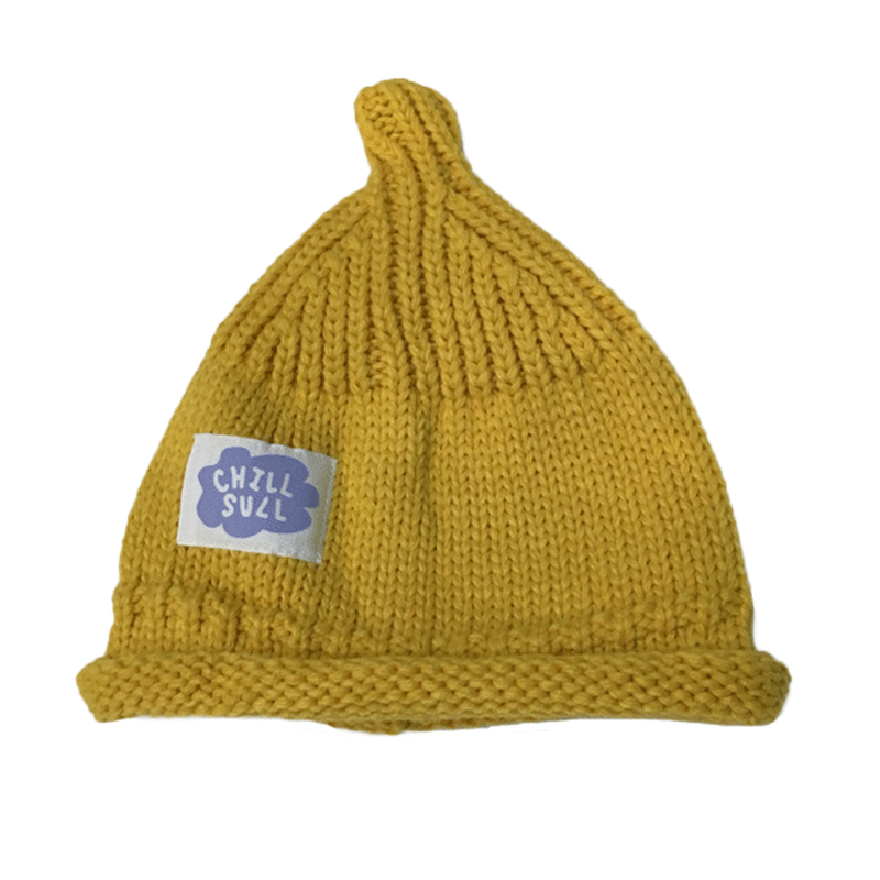 "CHILLSULL""KNITCAP"" / YELLOW(KIDS)"