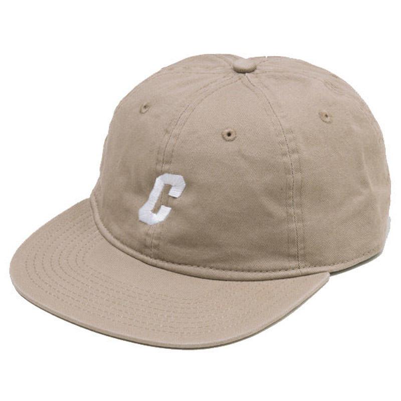 C LOGO FLAT VISOR CAP (BEIGE)