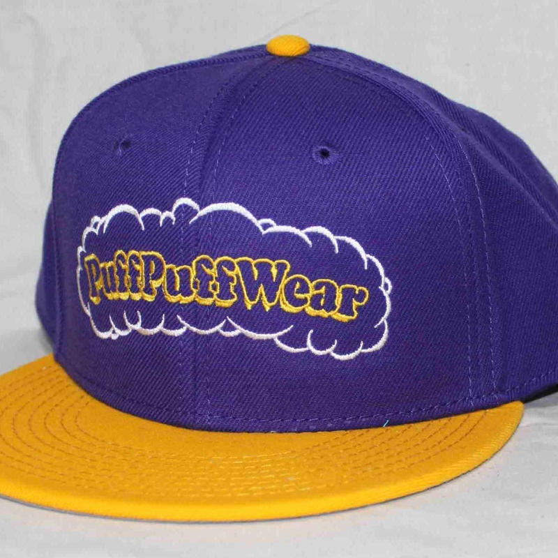 【刺繍】Puff Puff SNAPBACK CAP (PURPLE/YELLOW)