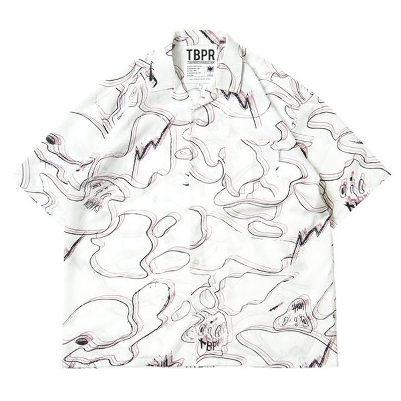 6月発売 - TIGHTBOOTH x OILWORKS / PARADISE ALOHA WHITE SHIRT