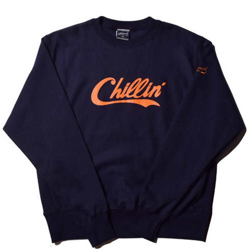 -PRILLMAL-Chillin' Errday!! : CREW NECK SWEAT (Navy)