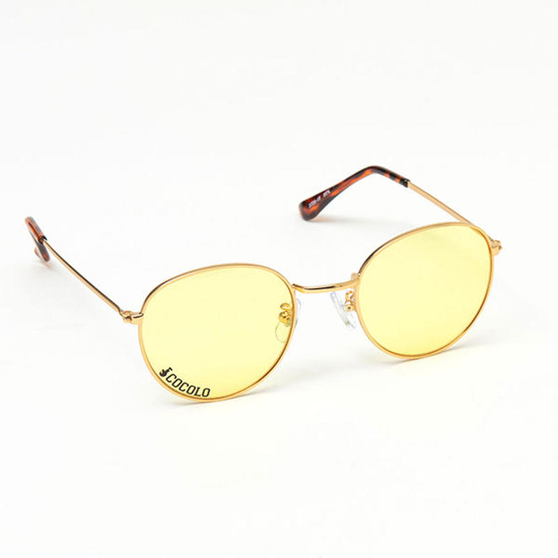 ROUND TOY SUNGLASS(GOLD/YELLOW LENS)
