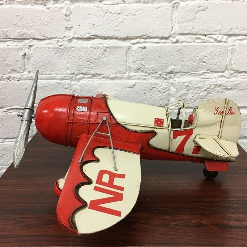 [Toy car] ブリキ エアプレーン Gee Bee