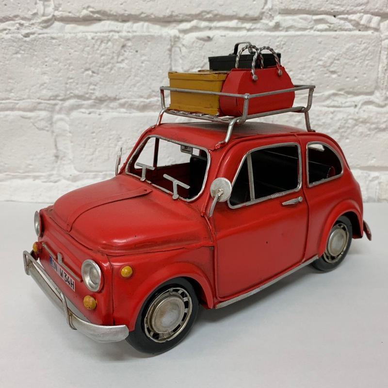 [toy car] ブリキ FIAT 500 キャリアカー