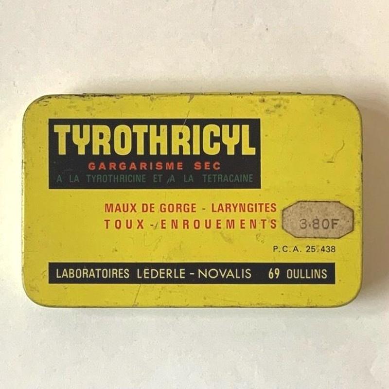 フランス/アンティーク TIN 缶/TYROTHRICYL