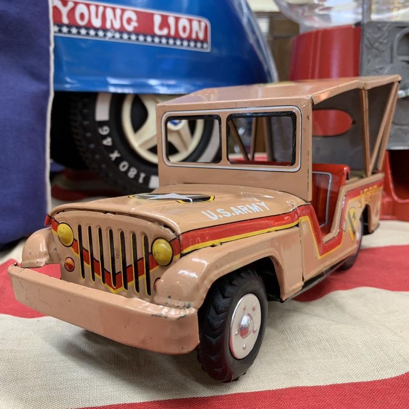 [toy car] ブリキ U.S.ARMY JEEP